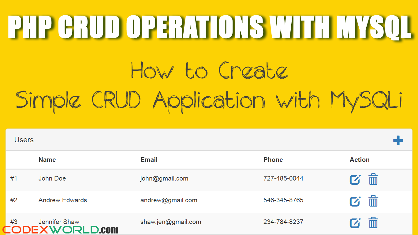 Php crud operations with mysqli extension web development tutorial php crud operations with mysql learn how to create a simple crud application with mysqli baditri Gallery