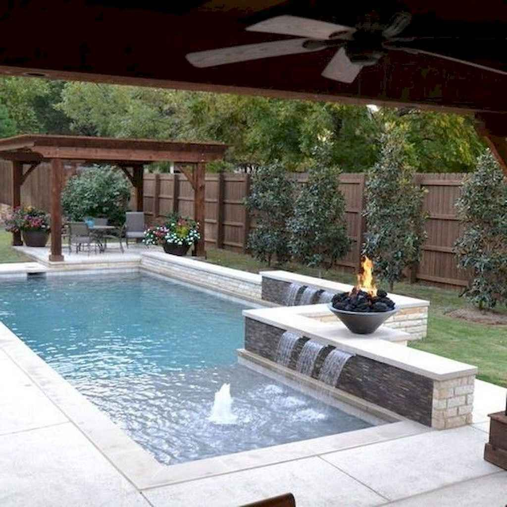 Best Swimming Pool Ideas For Small Backyard 3 99decor In 2020 Backyard Pool Landscaping Backyard Pool Designs Small Pool Design