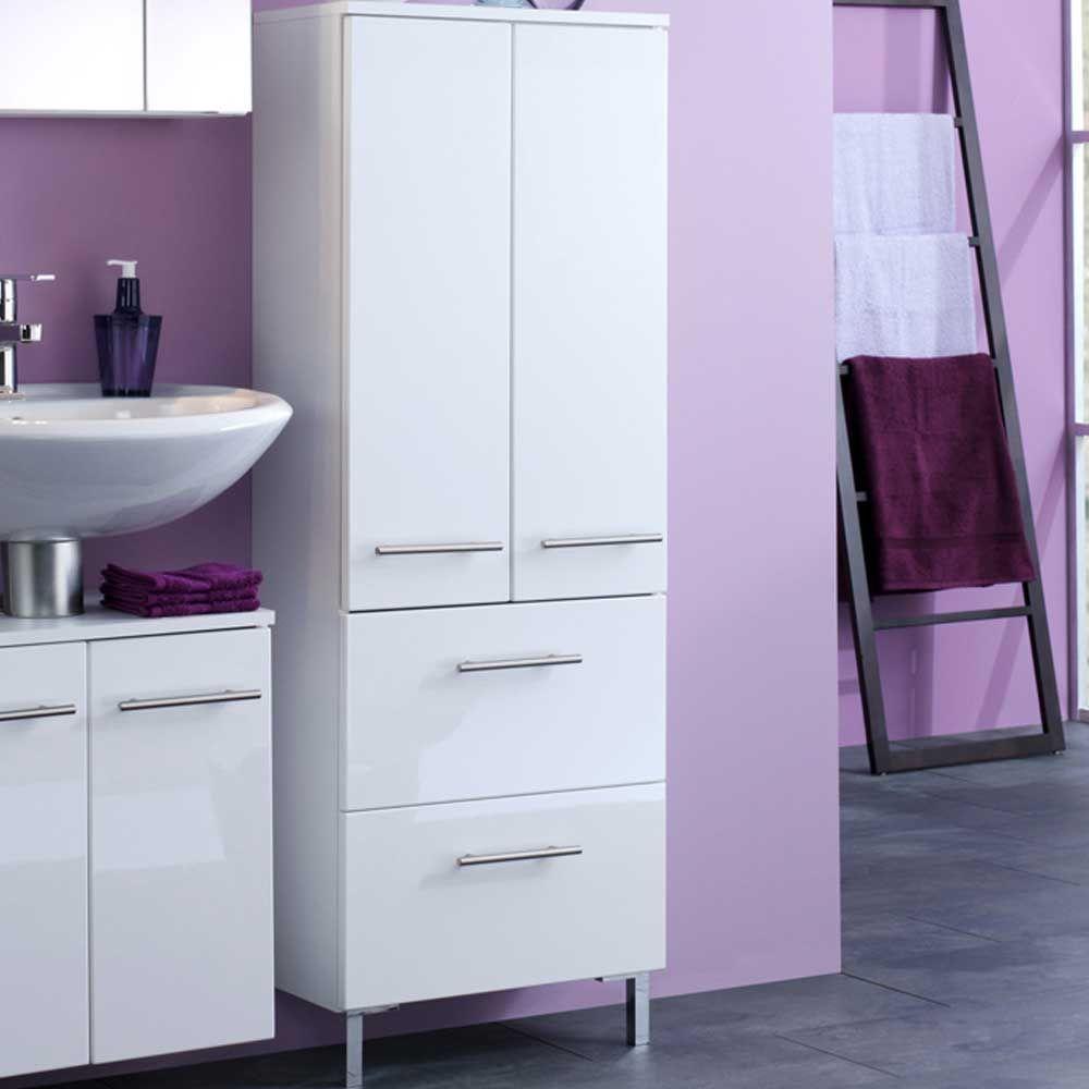 Badschrank in Weiß 50 cm breit Jetzt bestellen unter