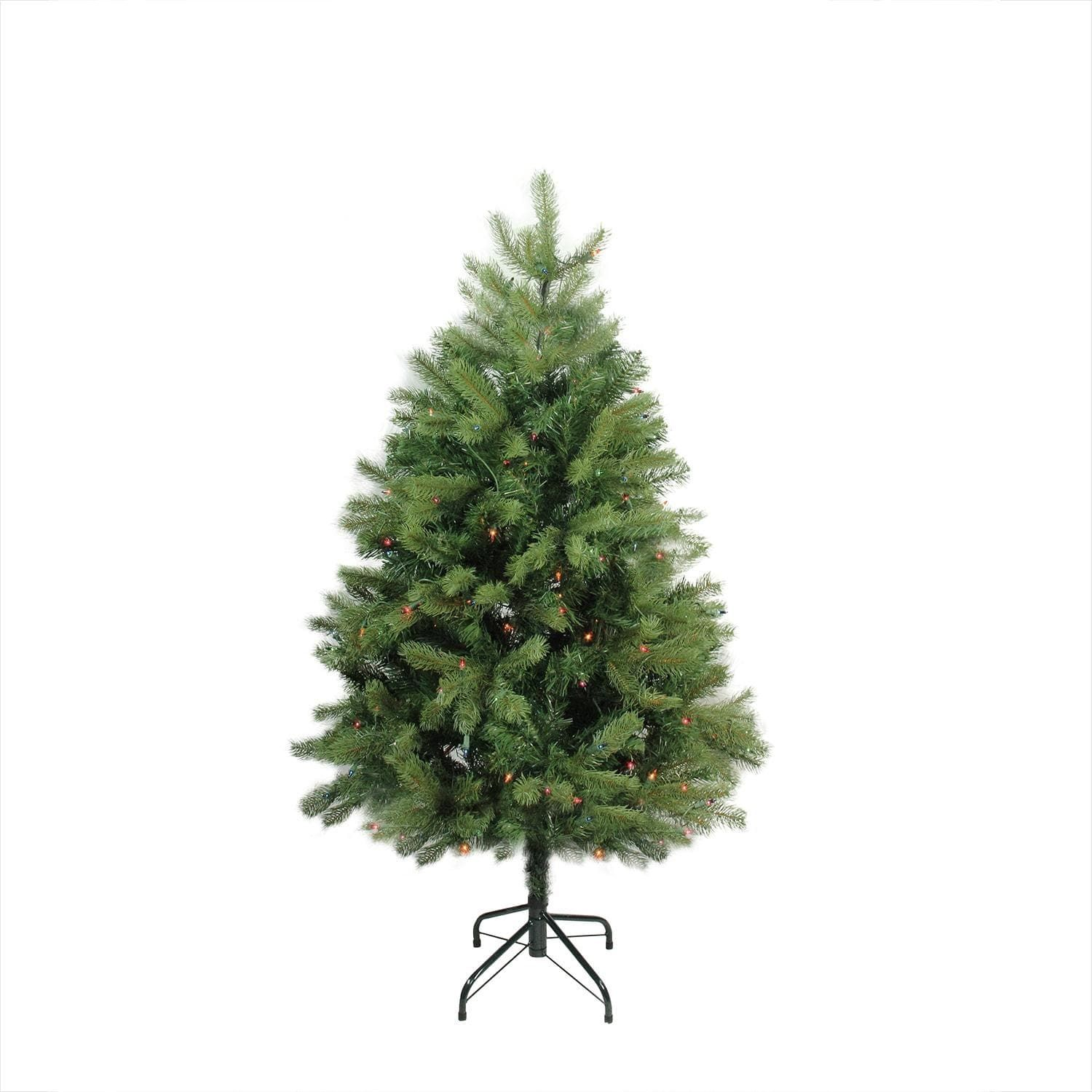 4\' Pre-Lit Noble Fir Full Artificial Christmas Tree - Multi-Color ...