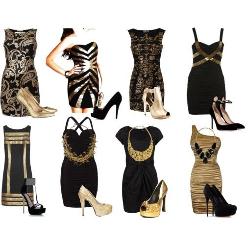 Black Gold Dresses Gold And Black Dress Glam Dresses Fashion