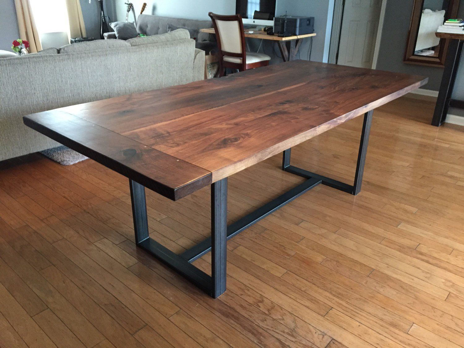 Classic walnut dining table with breadboard ends k heaton design
