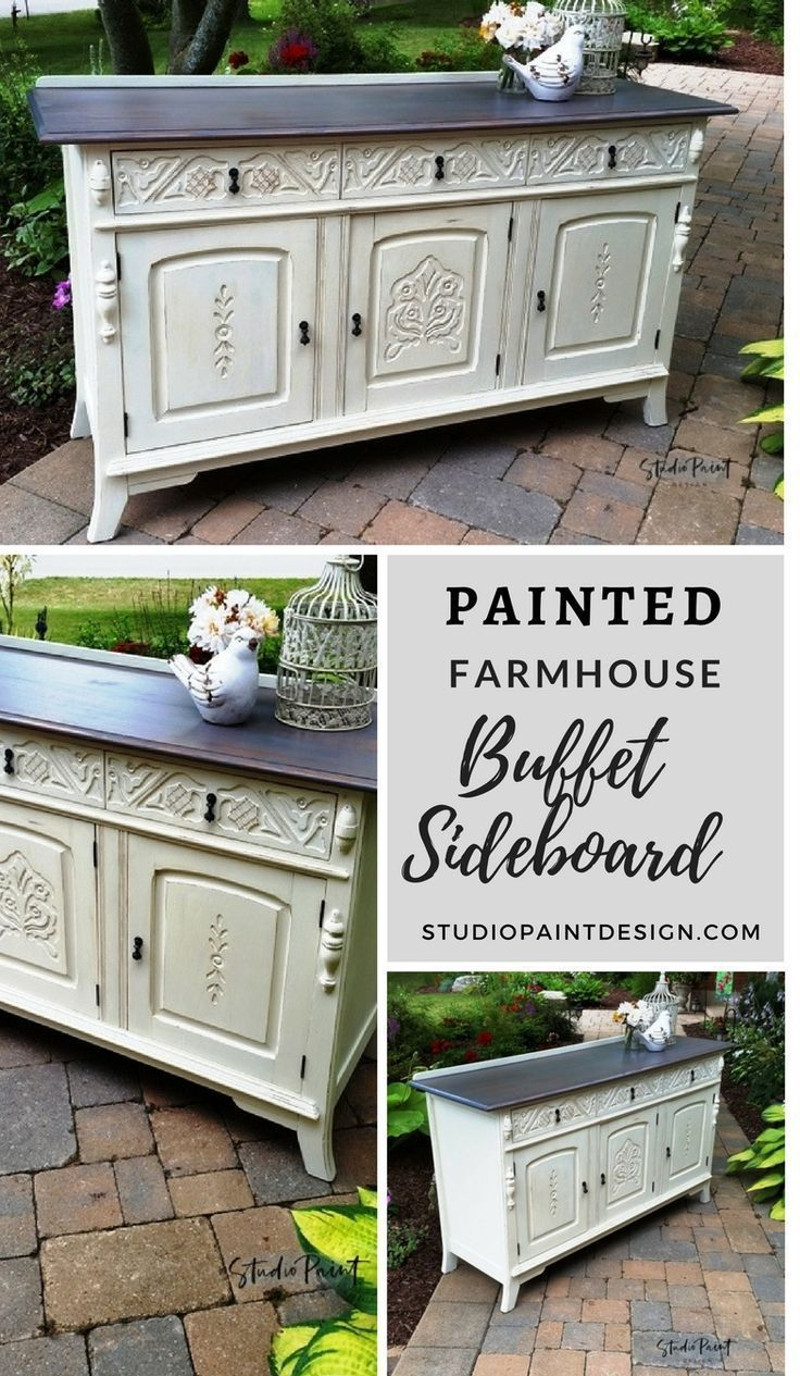 Painted Farmhouse Buffet Sideboard Melissa