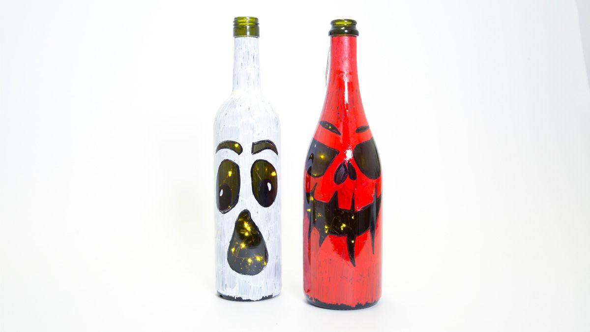 Permapainters Wine Bottle Activity Halloween Lanterns Halloween Lanterns Craft Activities For Kids Wine Bottle