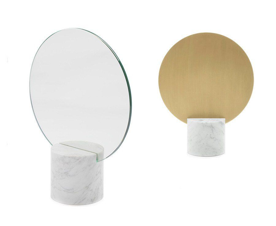 Marblelous солнце зеркало - латунь   DSHOP