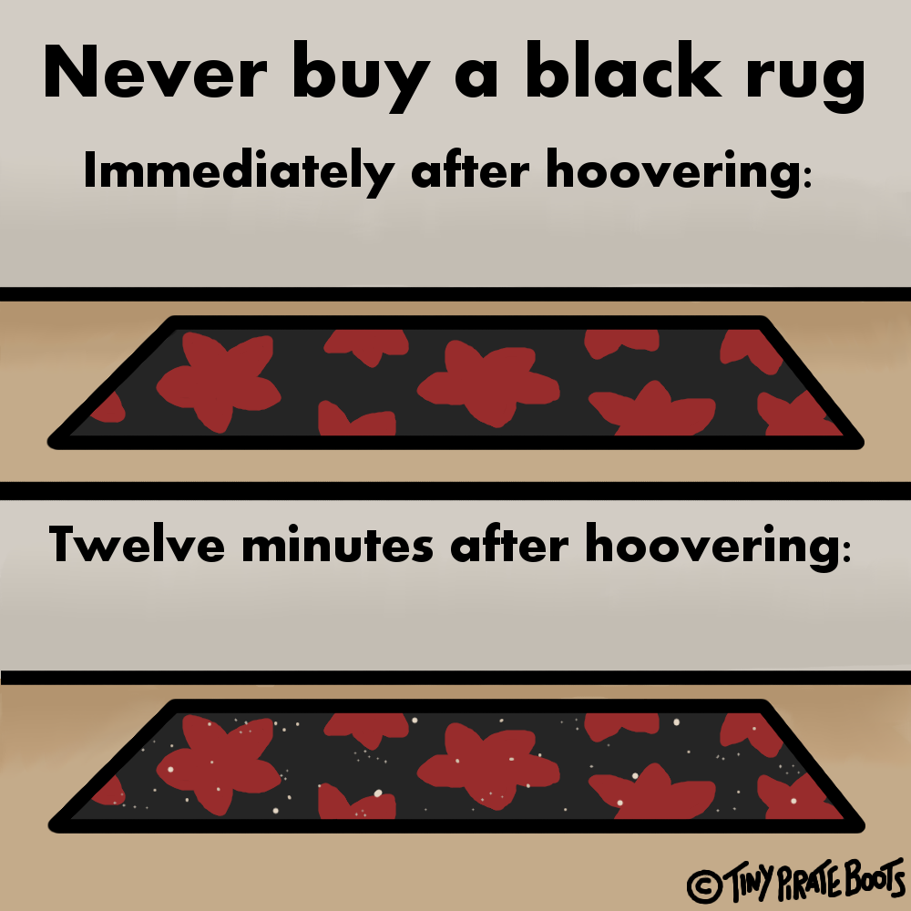 All crumbs are white, apparently. Wish I'd known that before buying a black rug.