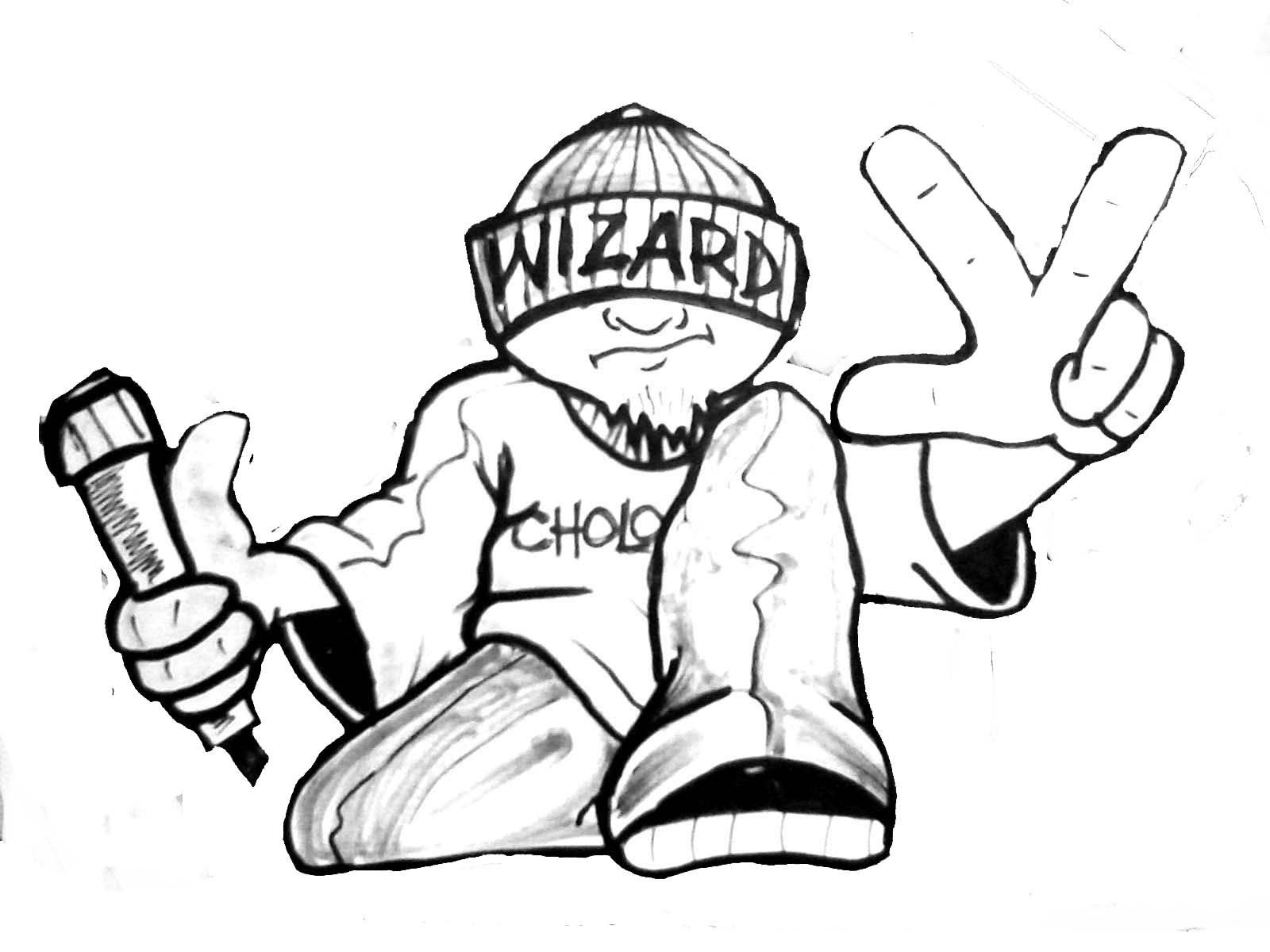 1600x1200 Gambar Graffiti Gangster Drawing A Gangsta ...