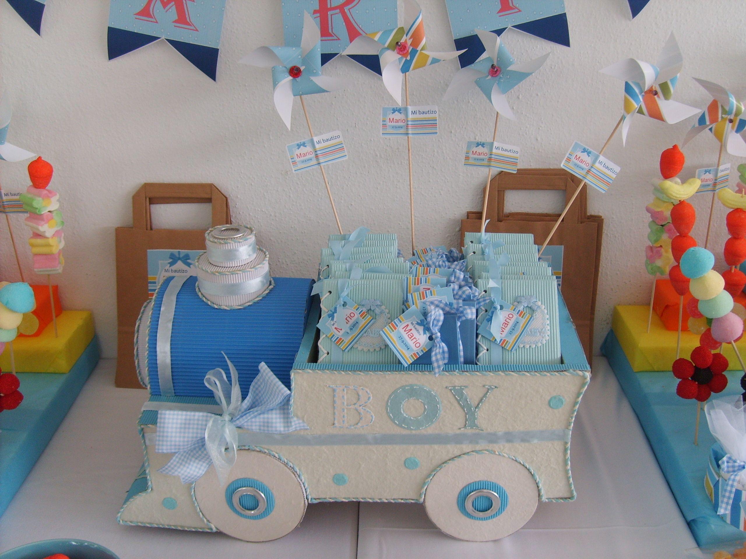 Tren hecho con cart n rizado y papel mach es una caja - Regalos para los invitados ...