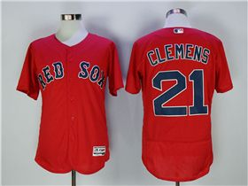 new styles 0a4ba d6071 Boston Red Sox #21 Roger Clemens Red Flex Base Jersey ...