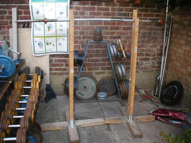 Diy squat station homemade cage home gym