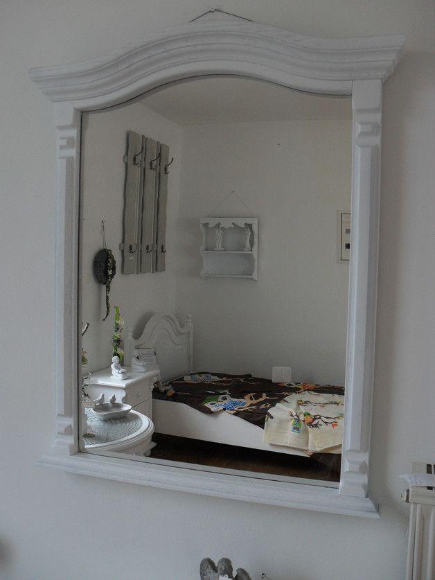Wandspiegel Spiegel Gross Wandspiegel Shabby Weiss Holz Edel Ein
