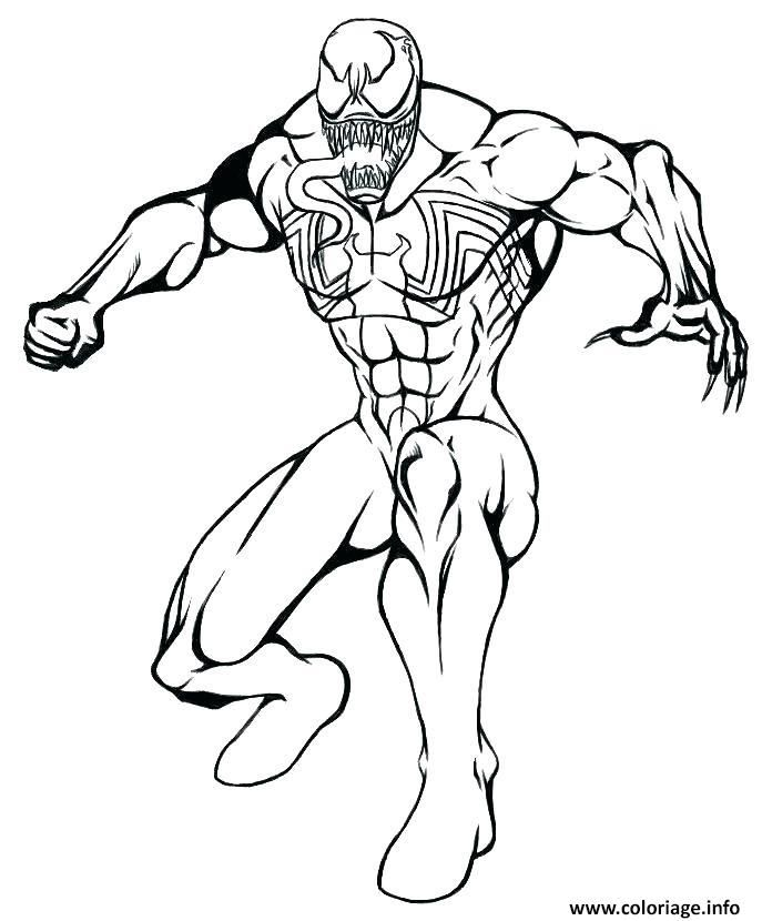 Coloriage venom de spiderman mode defense Dessin à Imprimer | Coloriage spiderman, Coloriage, Dessin