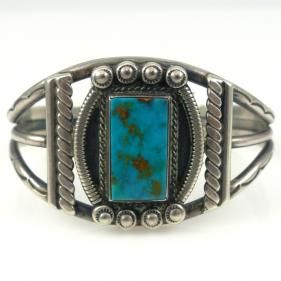 Vintage Turquoise Cuff by Vintage Collection - Garland's Indian Jewelry