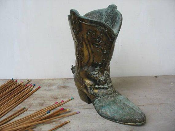 Vintage Cast Metal S.C.C. Cowboy Boot