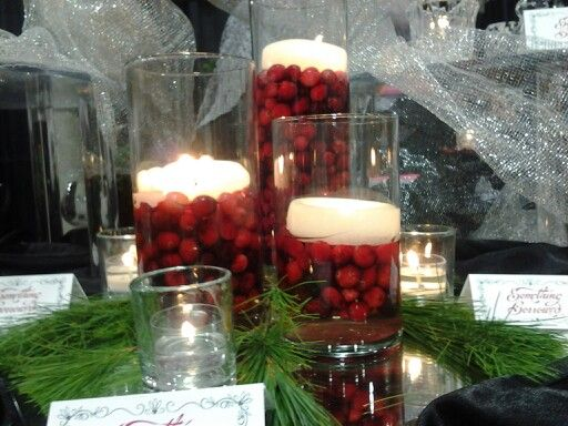 Pinterest Winter Wedding Centerpieces: Amazing Winter Wedding Centerpieces! Cranberries And White