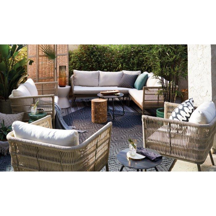 Belham Living Wicklow Rope Weave Outdoor Sectional Sofa Set