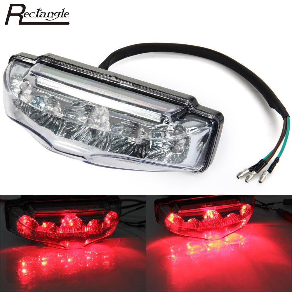 Motorcycle 9 Led Tail Rear Red Light Lamp Dc 12v Clear Lens Brake Tail Lights Motorbike Rear Turn Indicators Affiliate Tail Light Motorbikes Red Led