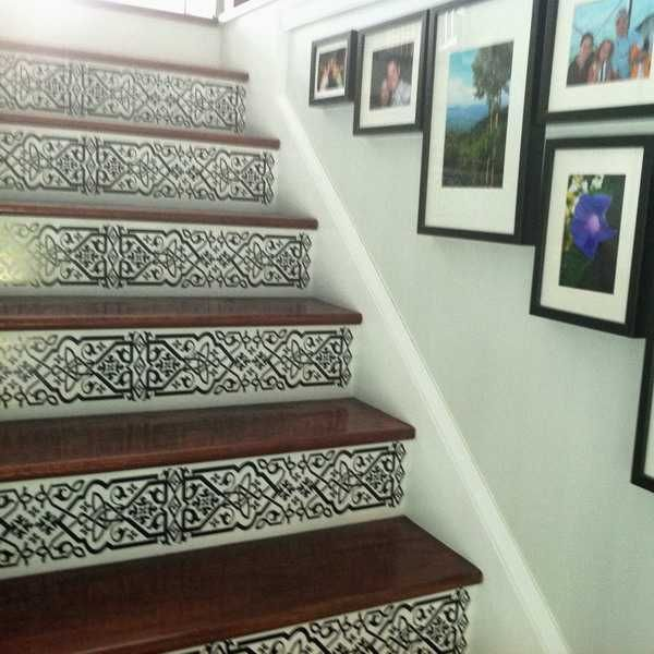 Carved Wood Stair Risers Stair Ideas Stamped Leather: 20 Unusual Interior Decorating Ideas For Wooden Stairs
