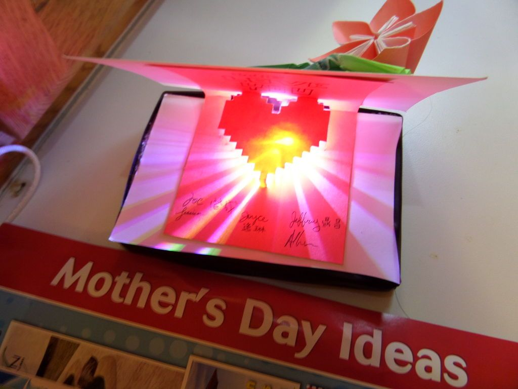 Light Up Pop Card LED Greeting Mothers Day Origami