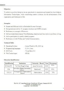 Standard Resume Format Sample Template Example Ofbeautiful