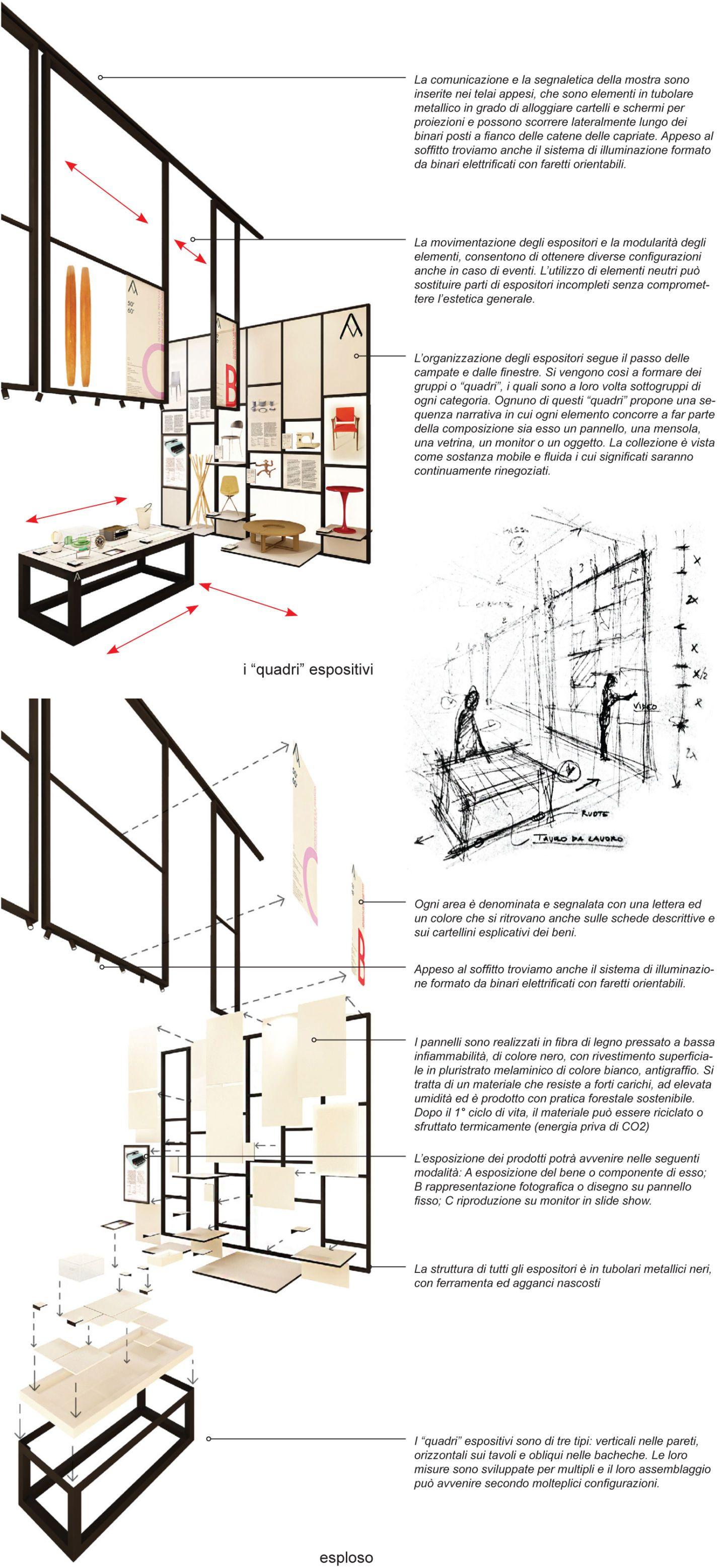 Progetto Capriata In Legno andrea tanganelli progetto di allestimento per la mostra