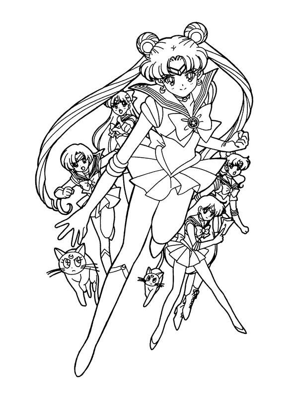sailor moon coloring page...who knows could make a pretty decent ...
