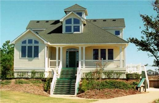 House Plan 130 1108 4 Bedroom 2730 Sq Ft Coastal Bungalow Home Tpc Ff 2730 House Plans Beachfront House Coastal House Plans