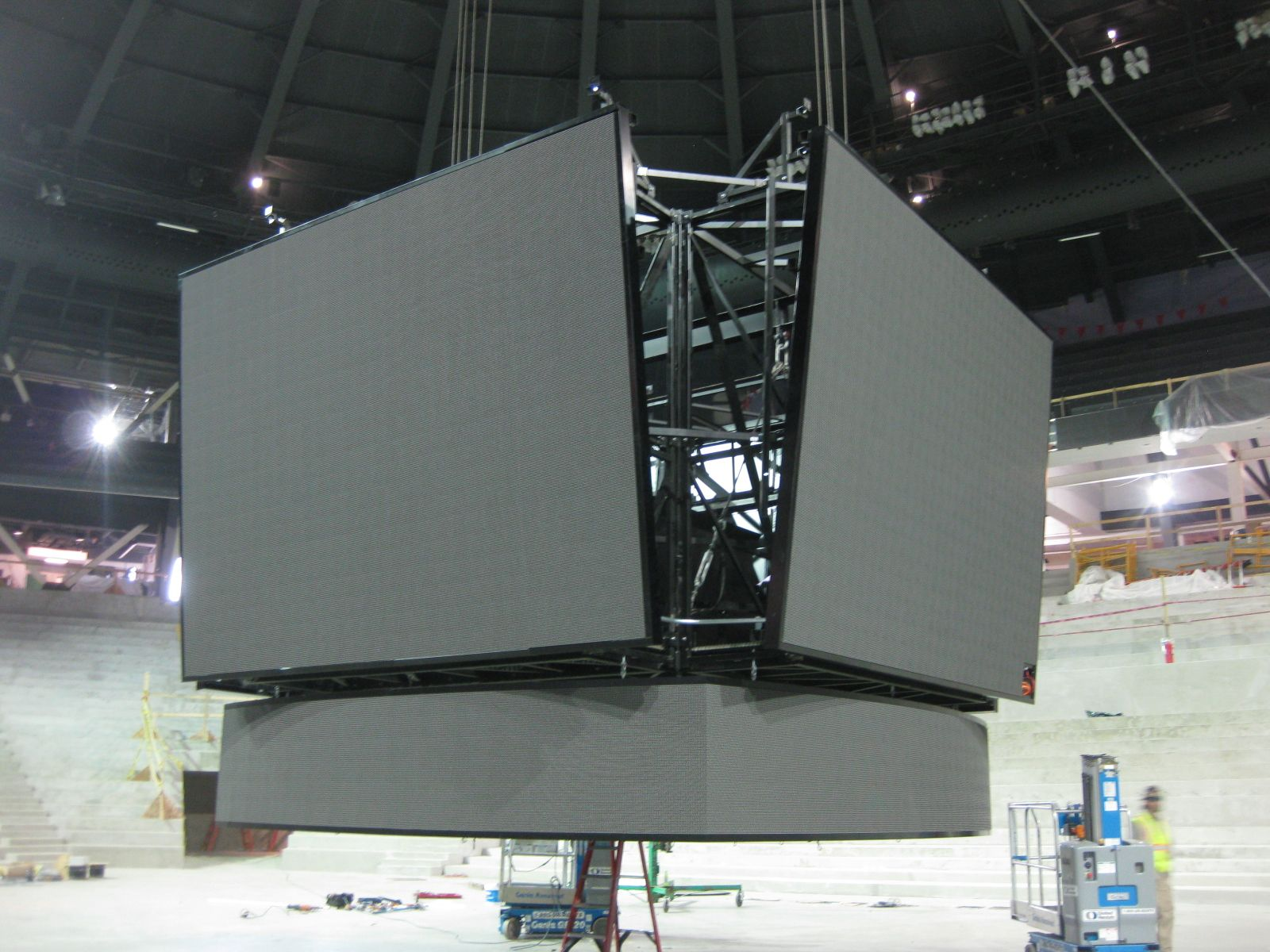 Check out the centerhung scoreboard that is going to