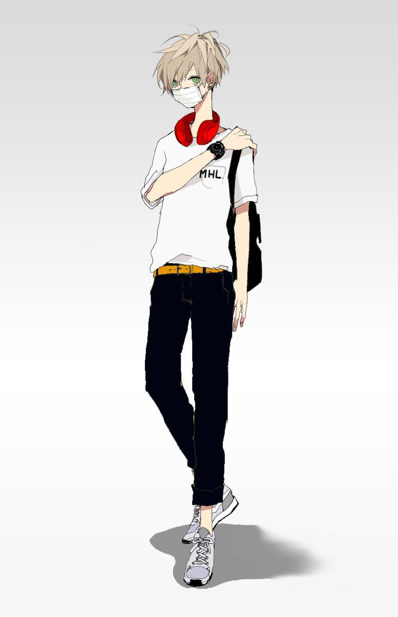 Guy Headphones Style Form Full Length Anime Boy Hot Anime Guys Manga Cute