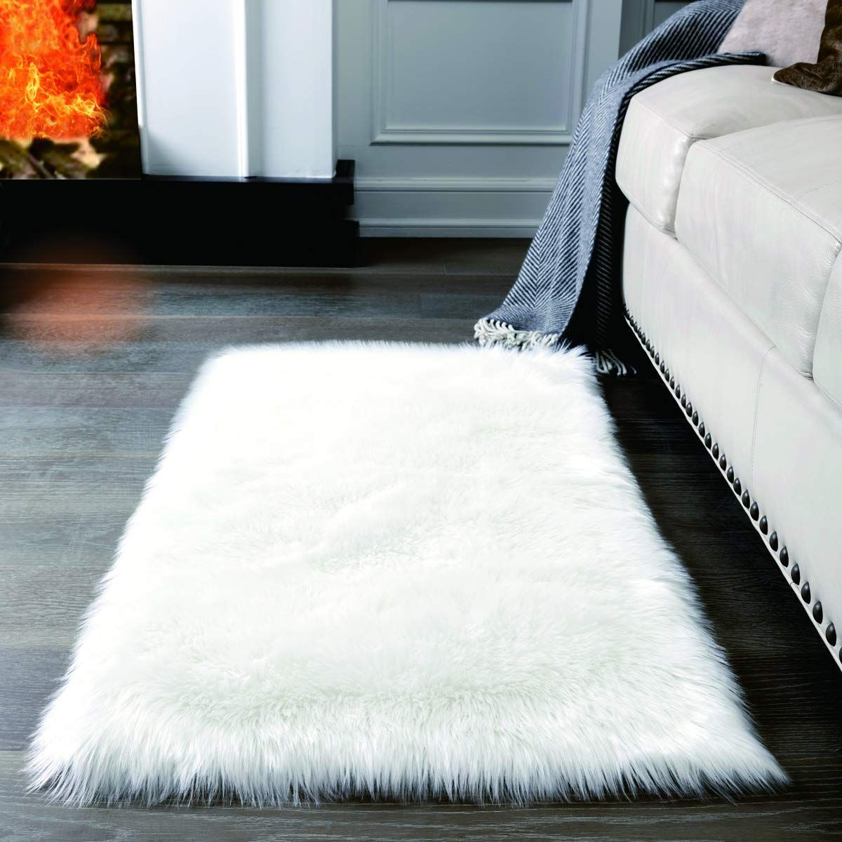 Super Soft White Fluffy Rug Faux Fur Area Rug Fur Rugs For
