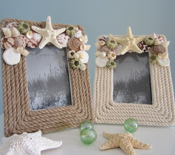 Nautical Decor Rope Frame Beach Decor Frame by beachgrasscottage ...