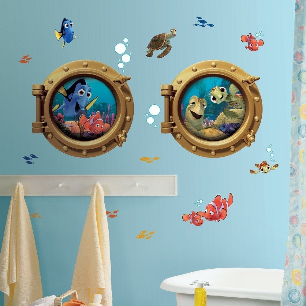 FINDING NEMO WALL DECALS New Giant Kids Bathroom Stickers Disney - Nemo bathroom set for small bathroom ideas