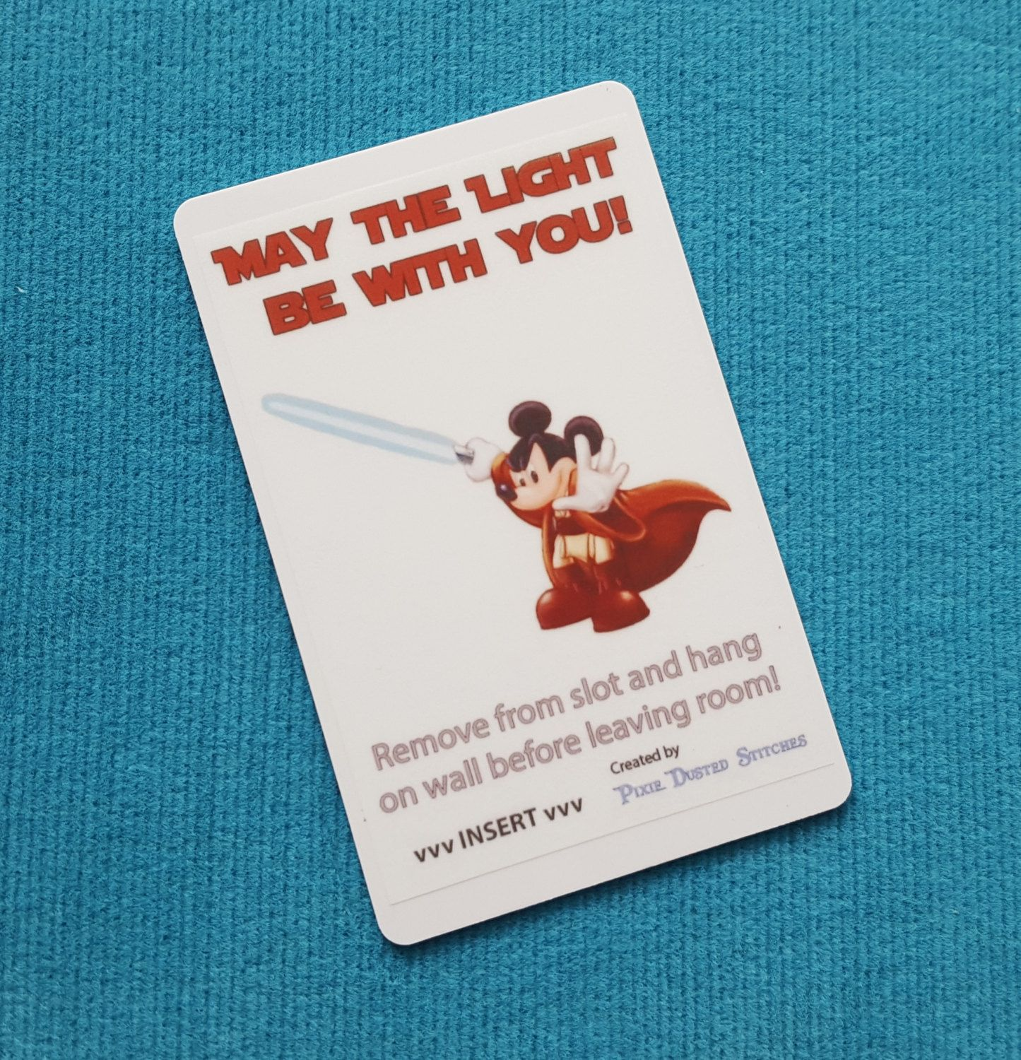 Mickey May the Light be With You Disney Cruise Light Card for Fish ...