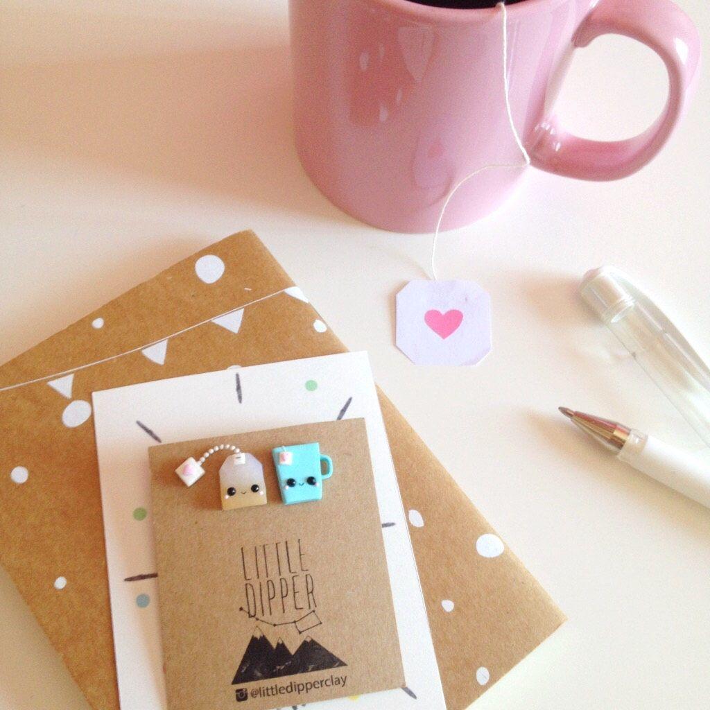 Tea bag and Cup ☕️ collar brooch