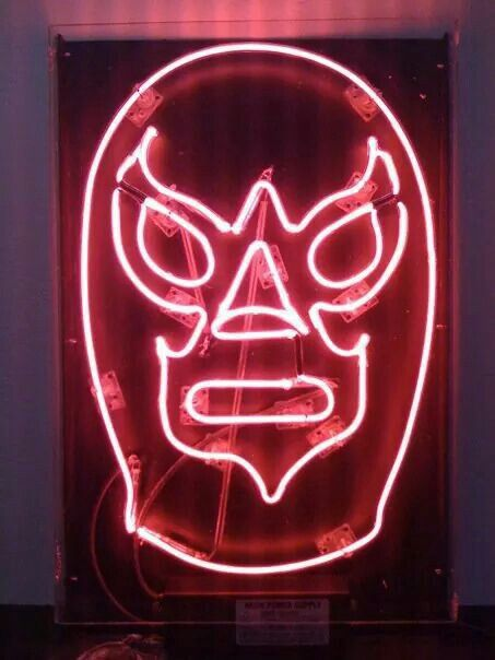 Neon Mask Neon Neon Signs Neon Lighting