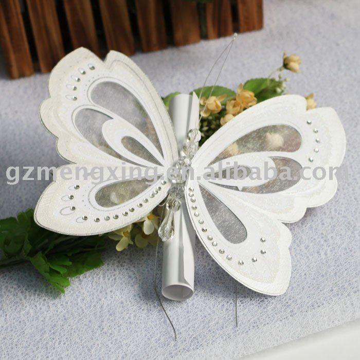 Bardian Butterfly Shape Wedding Invitations T192 Butterfly Wedding Invitations Original Wedding Invitations Butterfly Invitations