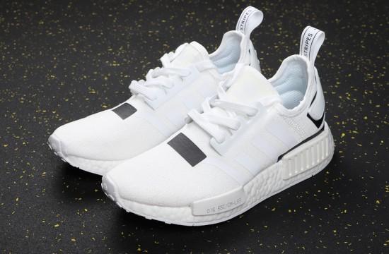 adidas nmd r1 white black speckle