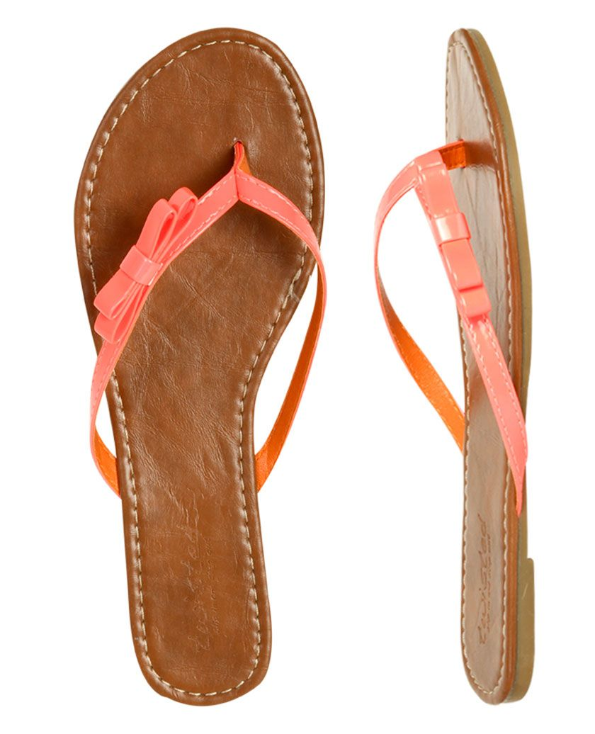 Side Bow Flip Flop  Shop Shoes At Wet Seal With Images -2730
