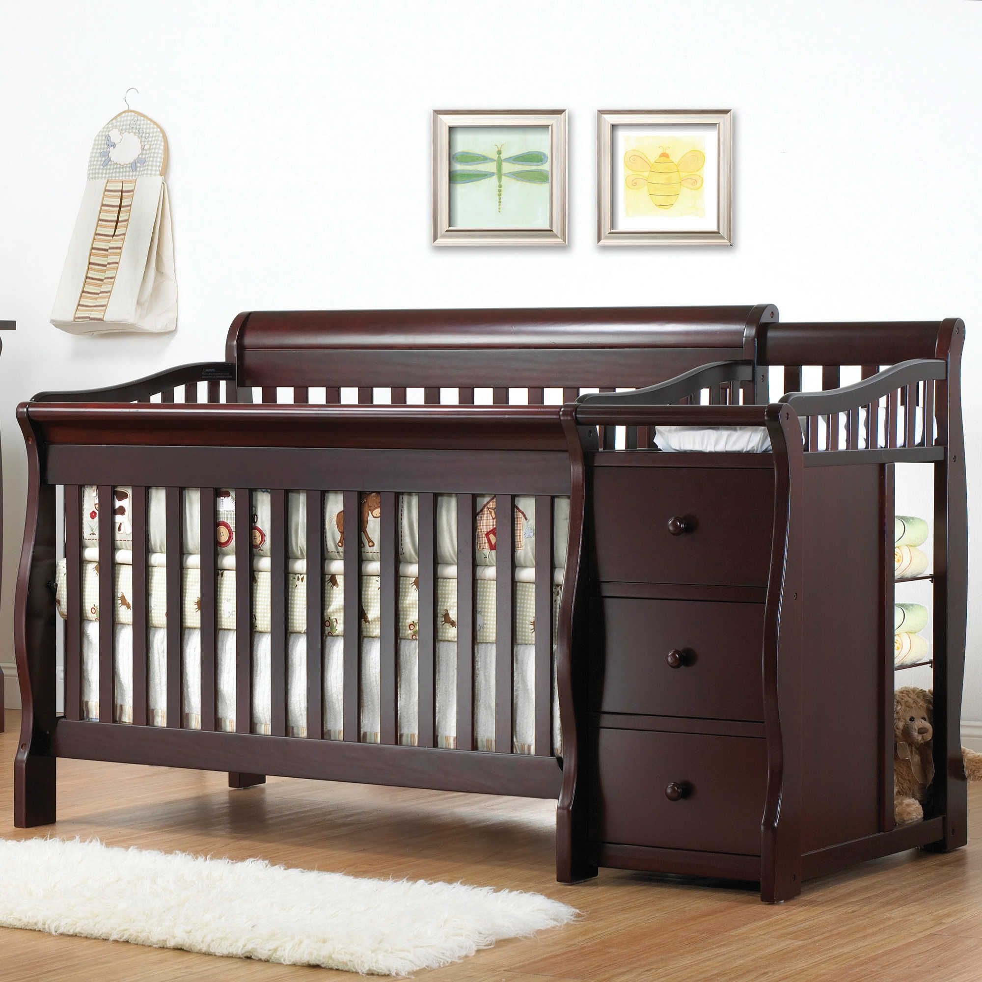 Sorelle Tuscany 4-in-1 Convertible Crib and Changer in Espresso ...