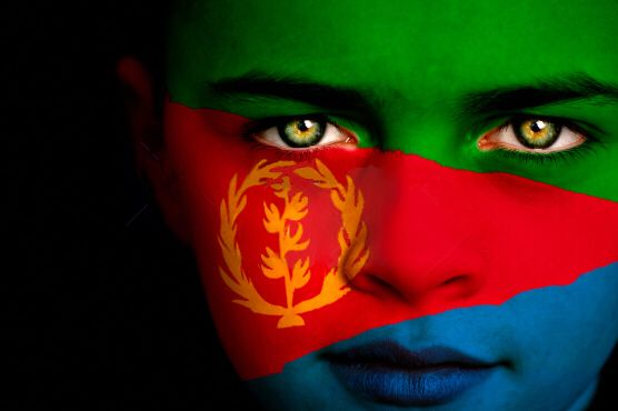 Eritrea Flag Boy Capital Asmara Flag Face Eritrea Flag Earth Flag