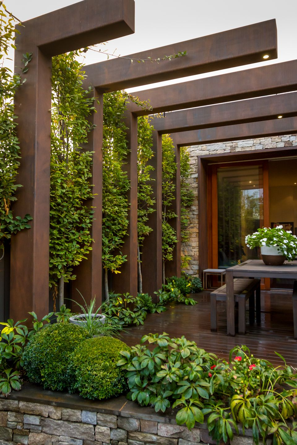 wall pergola design on the hornbeam tree is native to britain and is most suited to being pleached pleaching is t outdoor pergola outdoor gardens design backyard landscaping designs outdoor pergola outdoor gardens