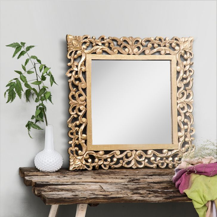 MDF Mirror With Distressed Gold Finish Is Must For Every Home Mirrors Bedroom