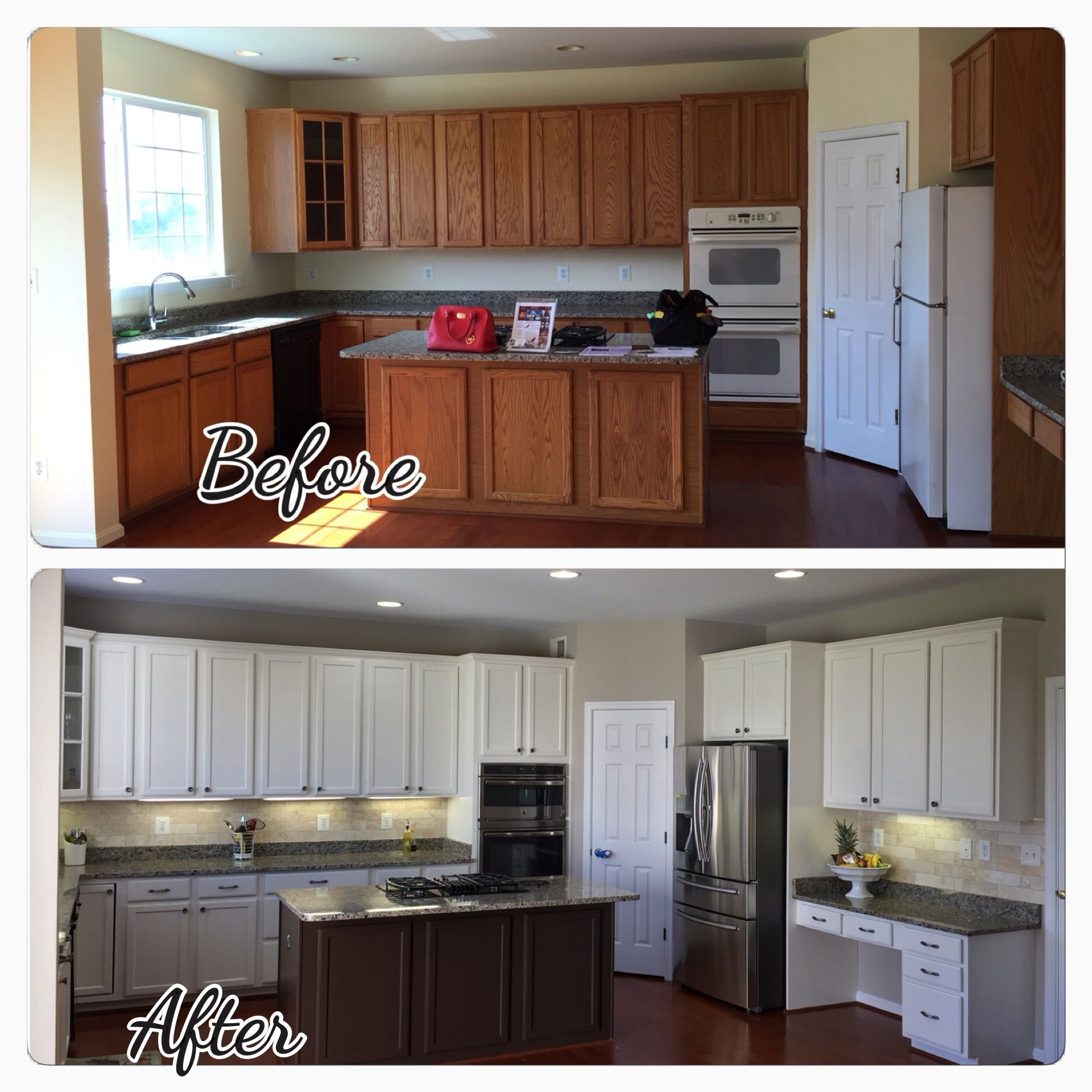 My Kitchen Renovation Cabinets Paint Bm Ivory White With Smokey Taupe On The Walls Taupe Kitchen Taupe Kitchen Cabinets Kitchen Design Plans