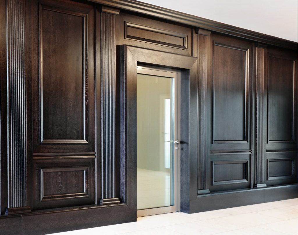 Stunning Design Of The Wood Paneling For Walls With Black Oak Wooden Color  Materials Added With - Stunning Design Of The Wood Paneling For Walls With Black Oak