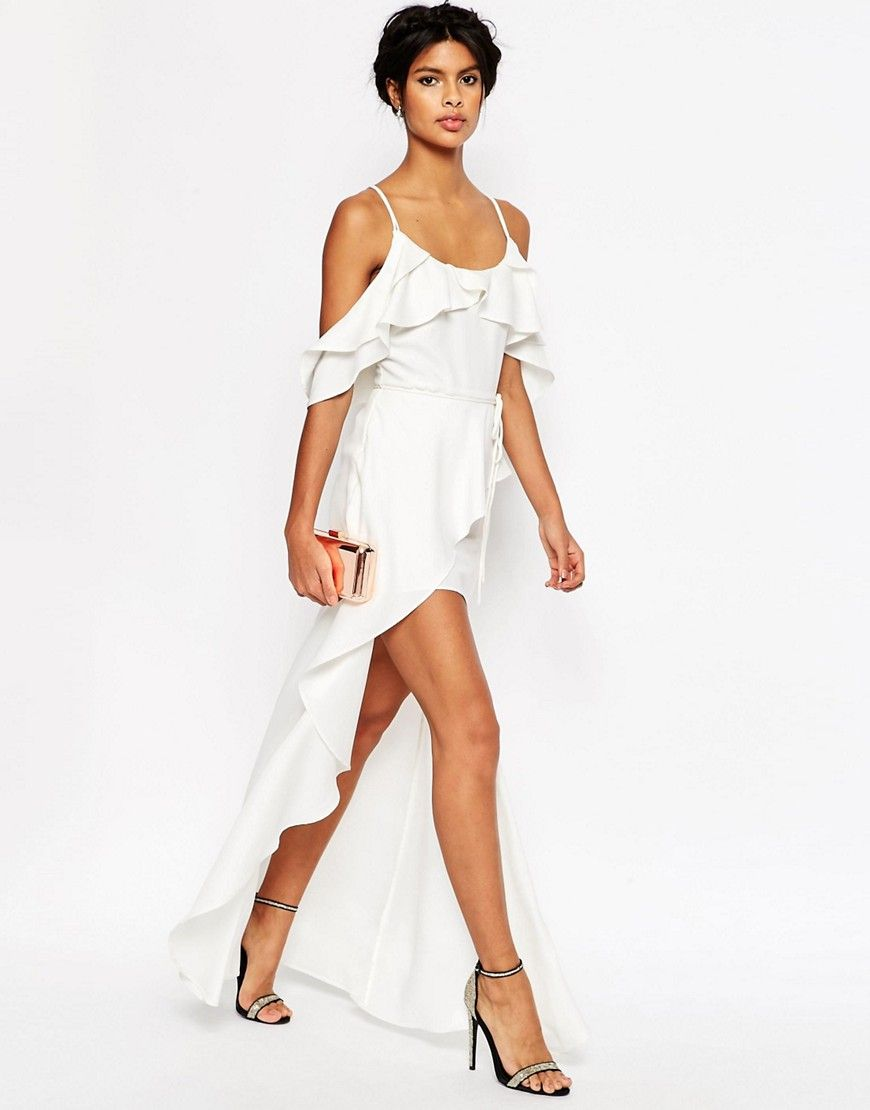 Image 1 Of Asos Cold Shoulder Ruffle Cami Maxi Dress Maxi Dress Cami Maxi Dress Style Maxi Dress [ 1110 x 870 Pixel ]
