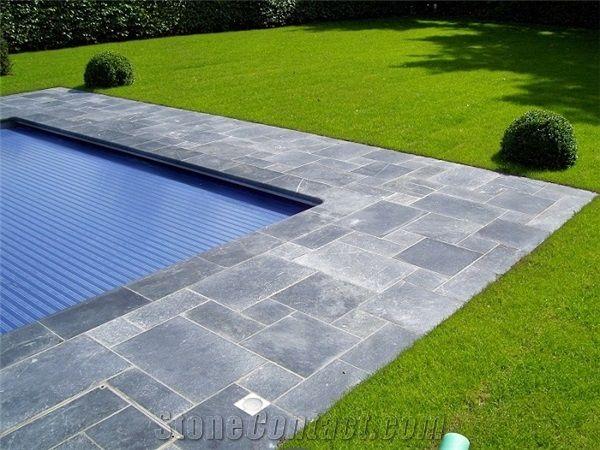 Blue Stone Pool Coping And Patio Belgian Bluestone Grey Blue