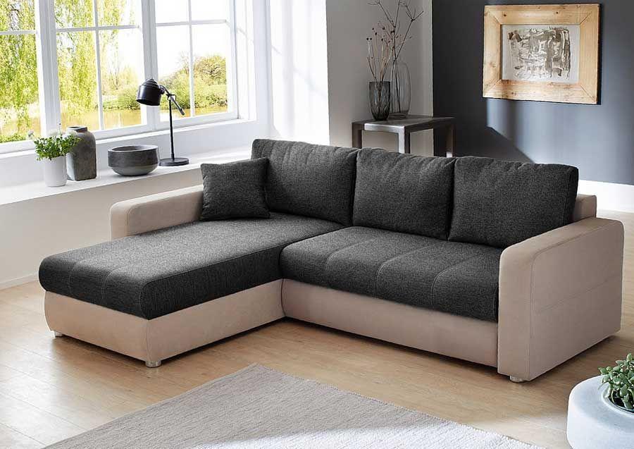 Kleines Ecksofa Mit Schlaffunktion Und Bettkasten Im Couch Modern Couch Sofa