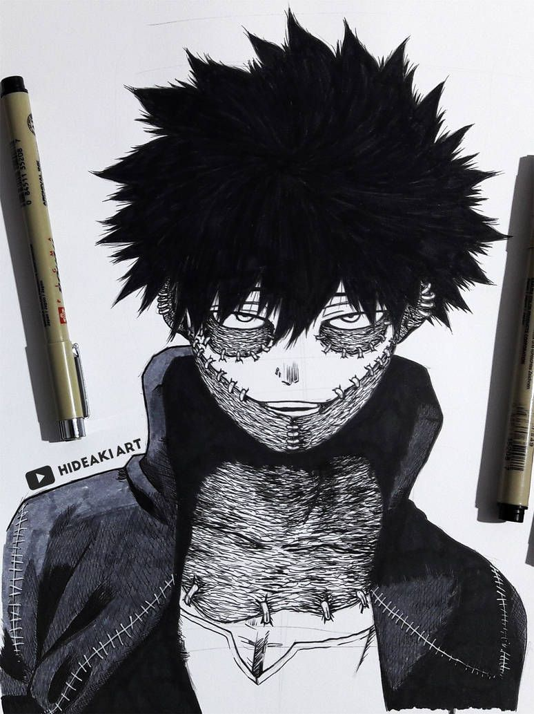 Dabi My Hero Academia By Https Www Deviantart Com Hideakiartreal On Deviantart Anime Character Drawing Anime Sketch Anime Drawings Sketches