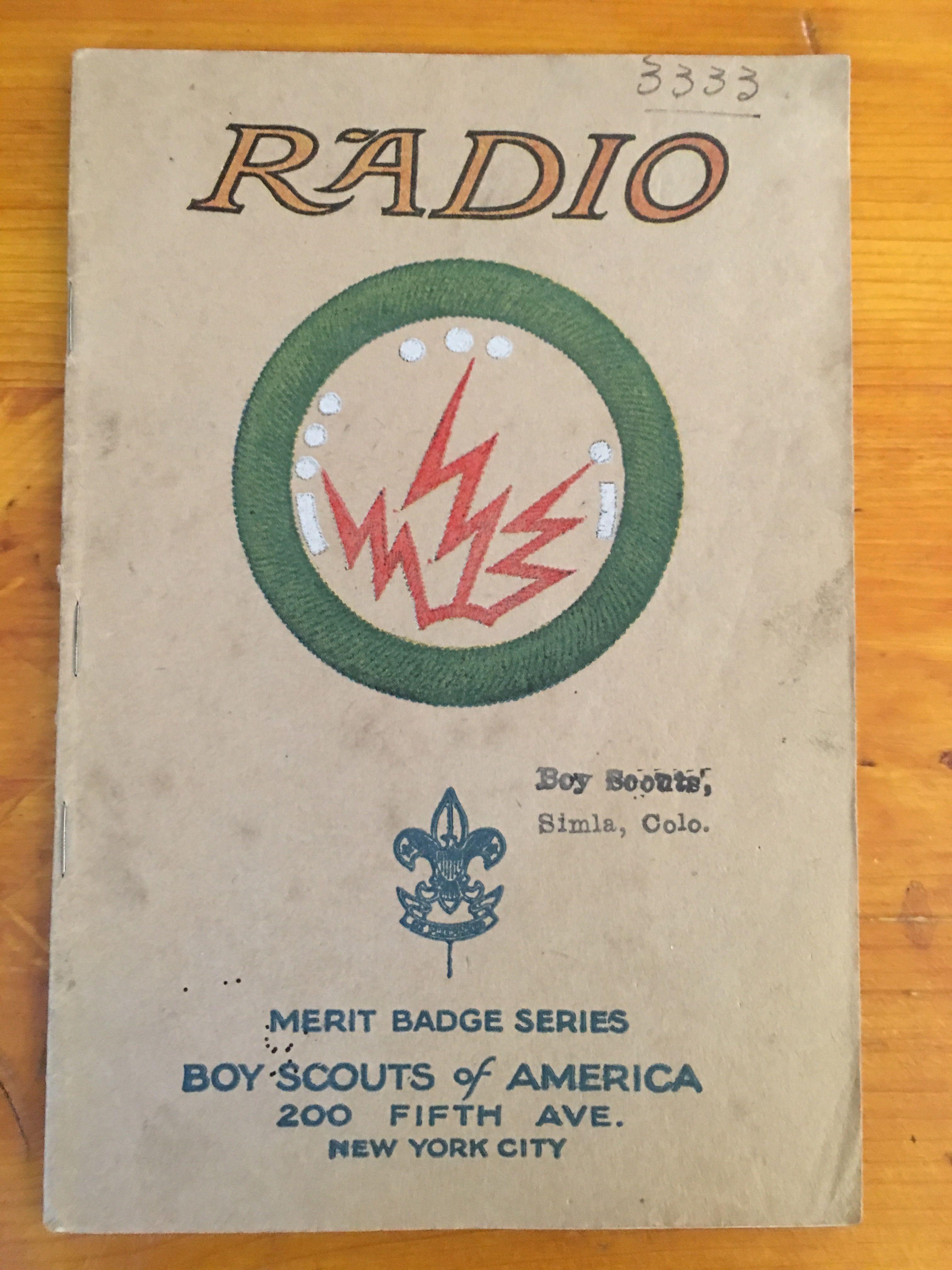 Radio Merit Badge Book