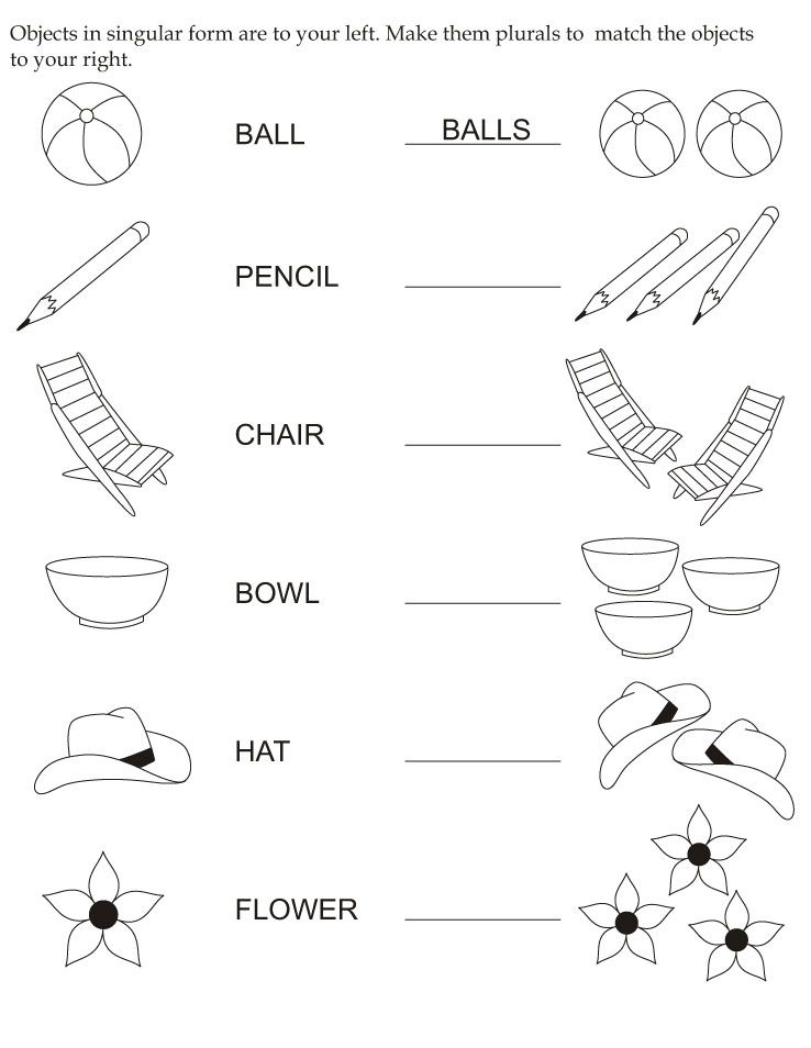 Plural Nouns Worksheet 1 – Nouns Worksheets for Kindergarten